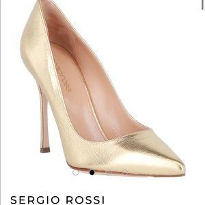 🔥Sergio Rossi Godiva pumps in Gold Leather 36🔥
